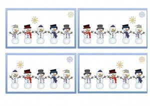 -ukladaj snehuliakov podľa šablóny