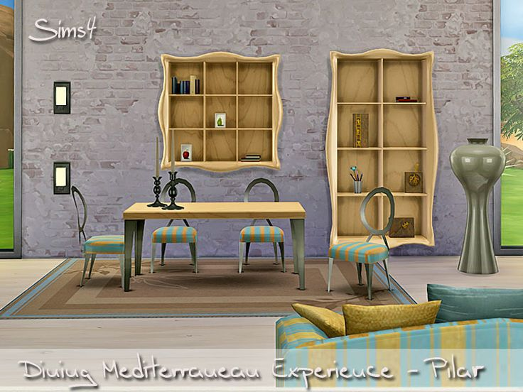 Mediterranean Experiencie Pure Light And Color Found In TSR Category Sims 4 Dining Room Sets