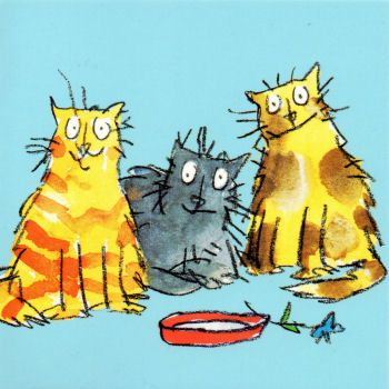 Quentin Blake's Pussy Cats - his drawings remind me of my childhood