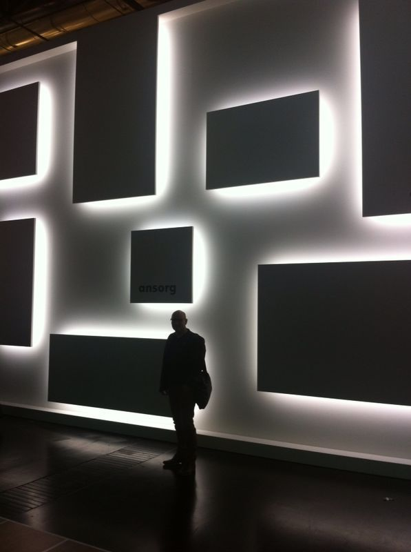 EUROSHOP 2014. me @ Euroshop 2014. I like the idea of illuminating the edges of an object or a space. Maybe lights on the sides of the space if I have a cube.