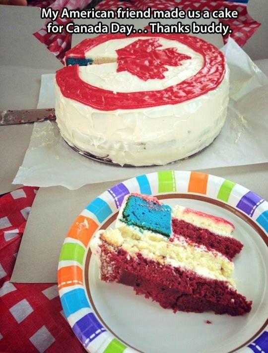 Sweet Canada Day Maple Leaf Flag Cake   Mega Memes LOL!... - 2funnys - http://2funnys.com/sweet-canada-day-maple-leaf-flag-cake-mega-memes-lol-2funnys/ - *, 2funnys, Cake, Canada, Day, Flag, Leaf, LOL, Maple, Mega, Memes, Random Funny Pic, Sweet