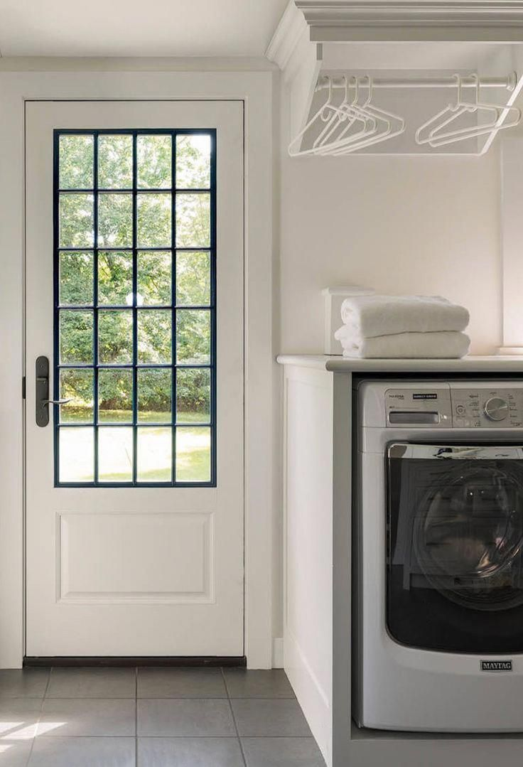 Laundry Room With Hanging Space By Exterior Door Kitchendoors Vintage Laundry Room Decor Vintage Laundry Room Laundry Room Decor