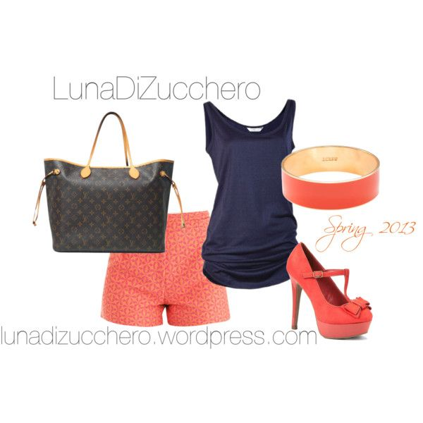A fashion look from June 2013 featuring Sophie Hulme shorts, Louis Vuitton tote bags and J.Crew bracelets. Browse and shop related looks.