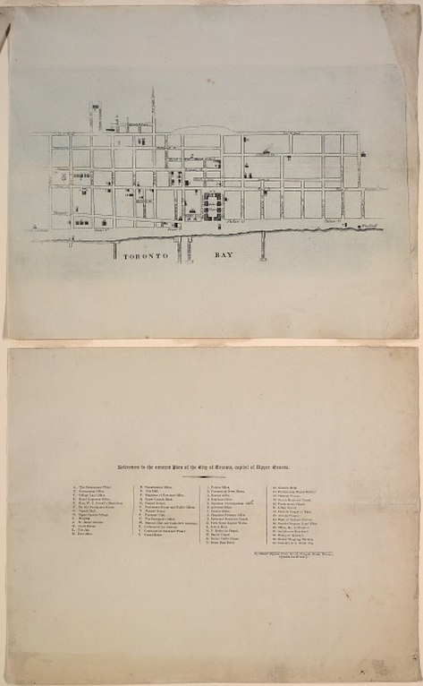 1834 Alpheus Todd Engraved Plan of the City of Toronto. Alpheus Todd was an English-born Canadian librarian and constitutional historian.  When he was still a young boy, his family emigrated to York, Upper Canada in 1833. The following year, York was incorporated as the city of Toronto. Todd -- at the precocious age of 13 -- produced the following Engraved Plan of the City of Toronto, by walking through the streets and converting his paces to a scale.