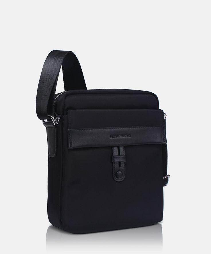 Bag GA Verona 279156 Black A minimalist messenger bag by Giorgio Agnelli