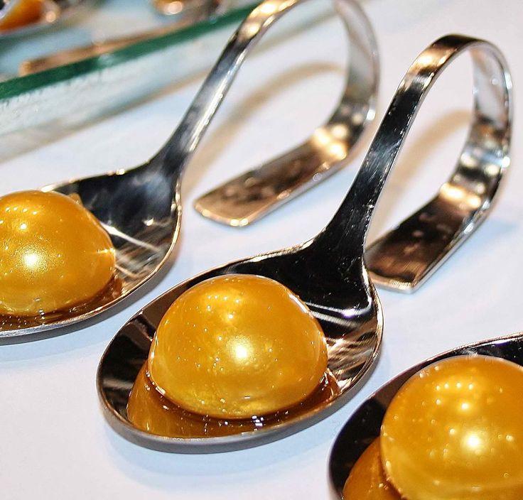Yellow Mango Spheres- Molecular Gastronomy Recipes