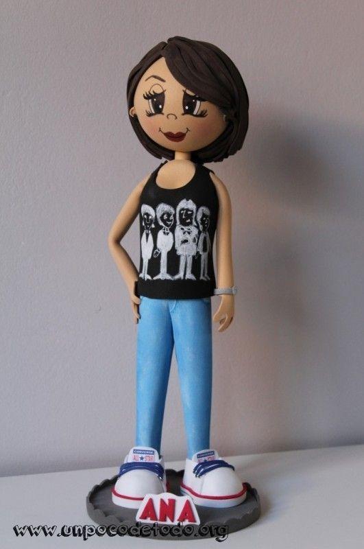 www.unpocodetodo.org - Fofucha de Ana - Fofuchas - Goma eva - all star - allstar - beatles - converse - crafts - foami - foamy - manualidades - music - musica - personalizado - 5