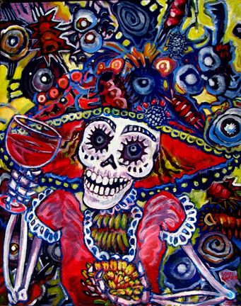 66 best day of the dead images on pinterest sugar skulls for Dia de los muertos mural