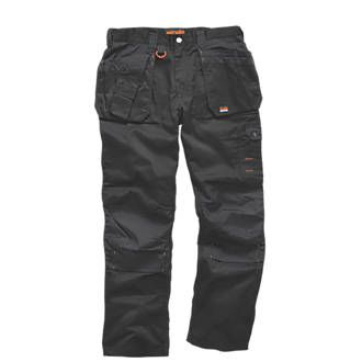 Scruffs Worker Plus Work Trousers Black 30`` W Black. Durable polycotton work trousers with reinforced knees and crotch for comfort and frequent use. http://www.MightGet.com/april-2017-1/scruffs-worker-plus-work-trousers-black-30-w.asp