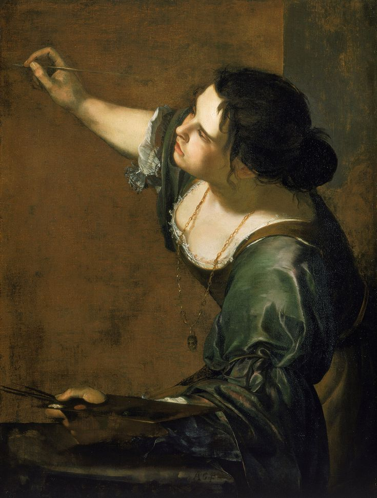 The Art of Italy in the Royal Collection - The Baroque: Self-portrait as the Allegory of Painting (La Pittura), 1638-39