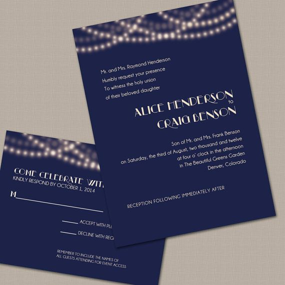 116 best navy blue wedding theme images on pinterest | marriage, Wedding invitations