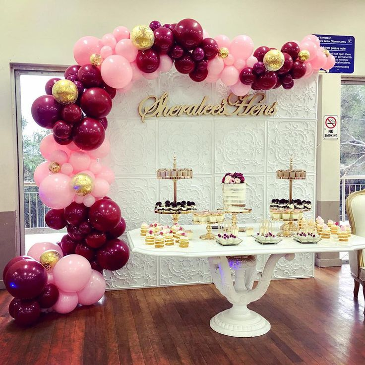 Gold Wedding Decor Ideas: Pink Gold And Burgundy Balloons 70 Pcs 12 Inch Burgundy