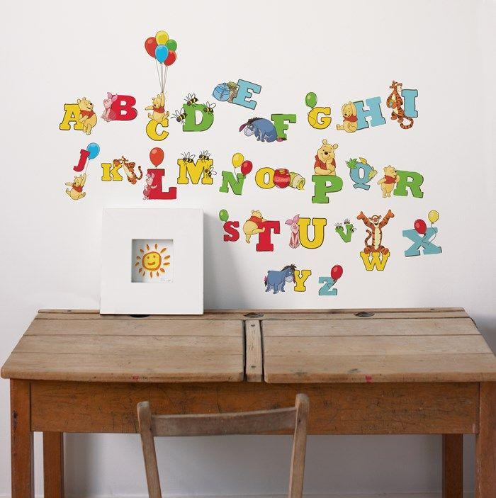 Cool Winnie the Pooh Alphabet Stickers Graham