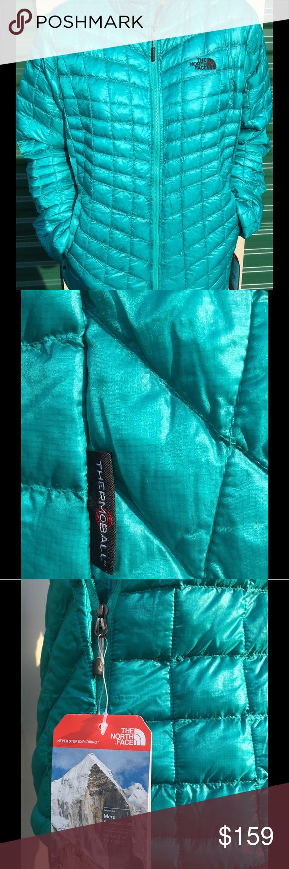 NEW The North Face Women's Thermoball Jacket Brand new With Tag, The North Face Women's Thermoball Full Zip Jacket in Kokomo green color in XL.   No trades! Price is firm. The North Face Jackets & Coats