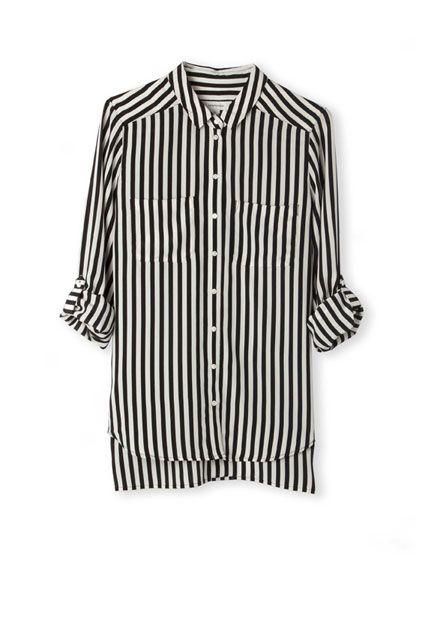 Country Road   Stripe Silk Shirt   $169