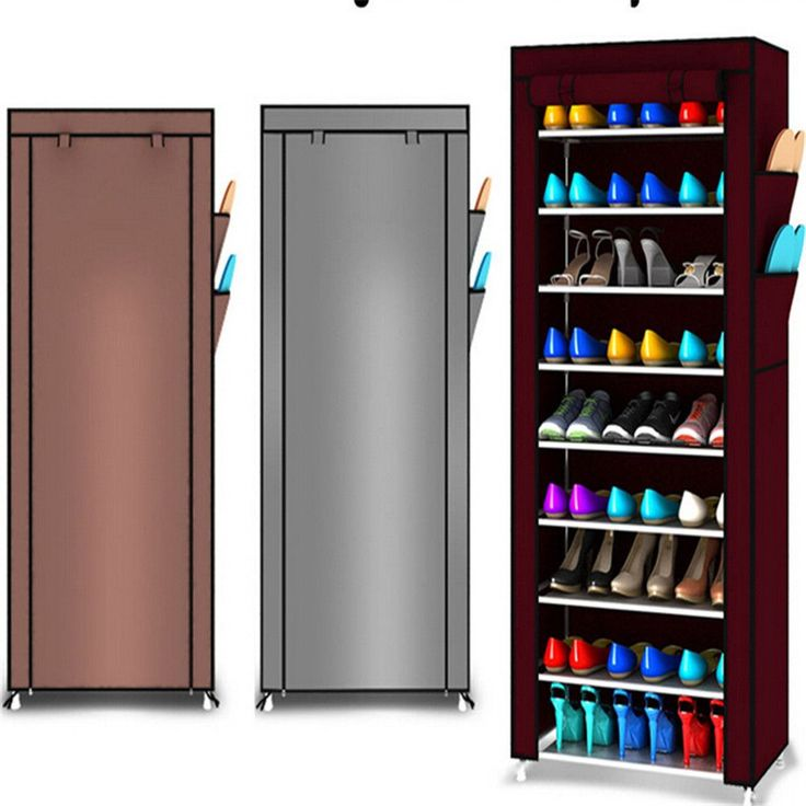 10 niveau toile tissu chaussures rack de stockage armoire. Black Bedroom Furniture Sets. Home Design Ideas
