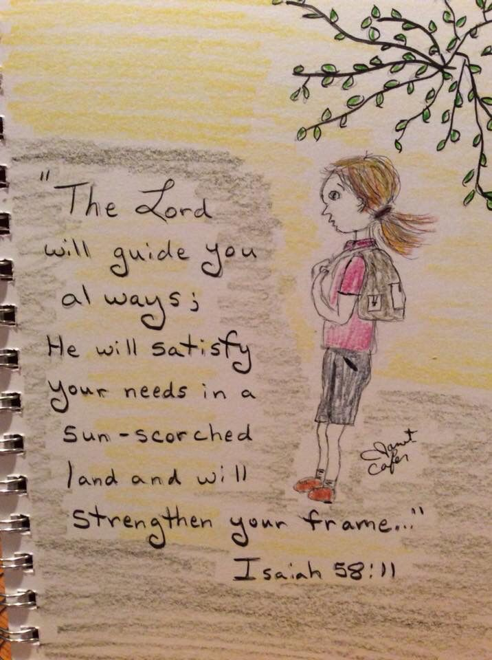 Do you need direction and strength? Seek God    #artjournal