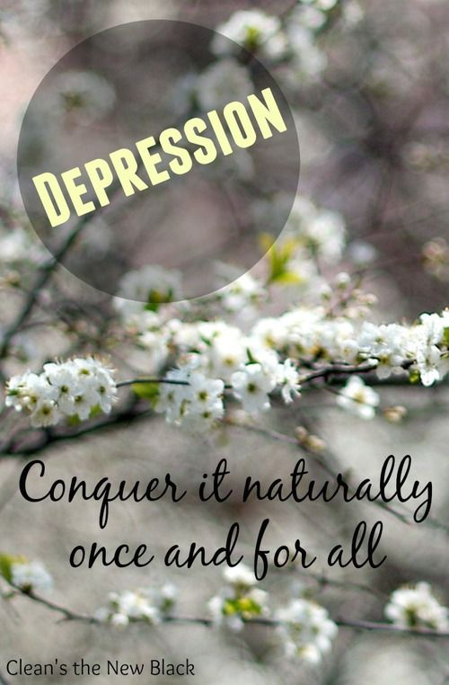 how to get over depression naturally