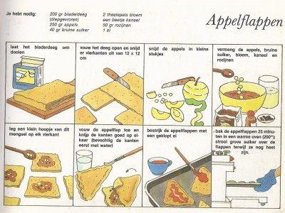 Afbeeldingsresultaat voor appelflappen stappenplan