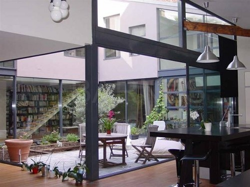 Maison / loft très lumineuse construite autour d'un patio de 47m2 sans vis-a-vis-269 m² - 5 chambres - PARIS 12 - Barnes  #Immobilier #loft #Luxe