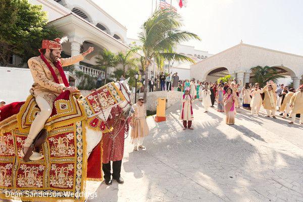 Indian wedding baraat.