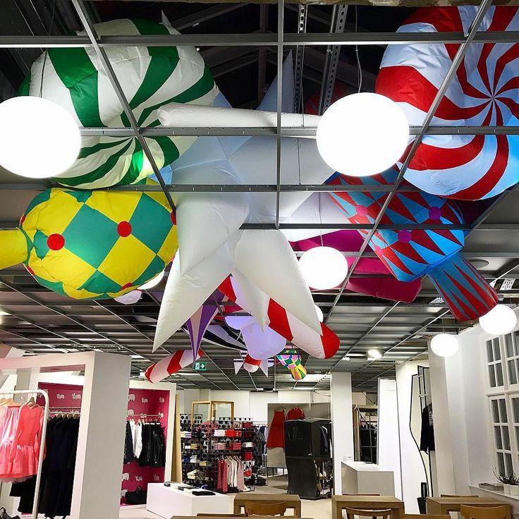 "DOVER STREET MARKET LONDON, UK, ""Ceilings gone mad ... It must be Christmas"", pinned by Ton van der Veer"