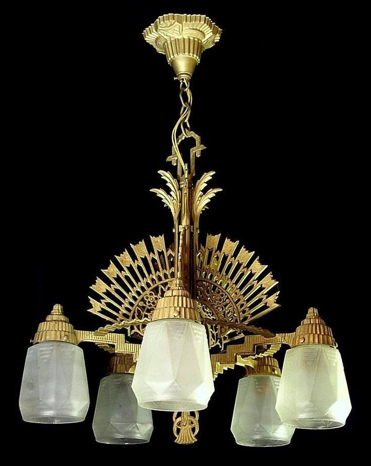 1930s art deco chandelier