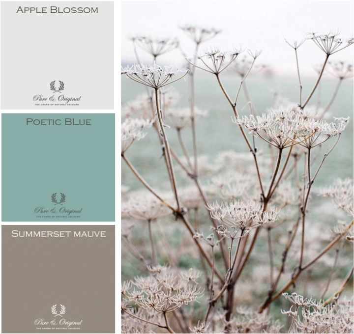 Spring pastels Moodboard with Pure & Original colors. Cred. Mamen Interiør