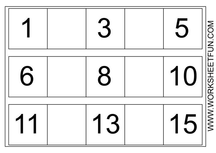Free Printable Worksheets for Preschool | Missing Numbers ...