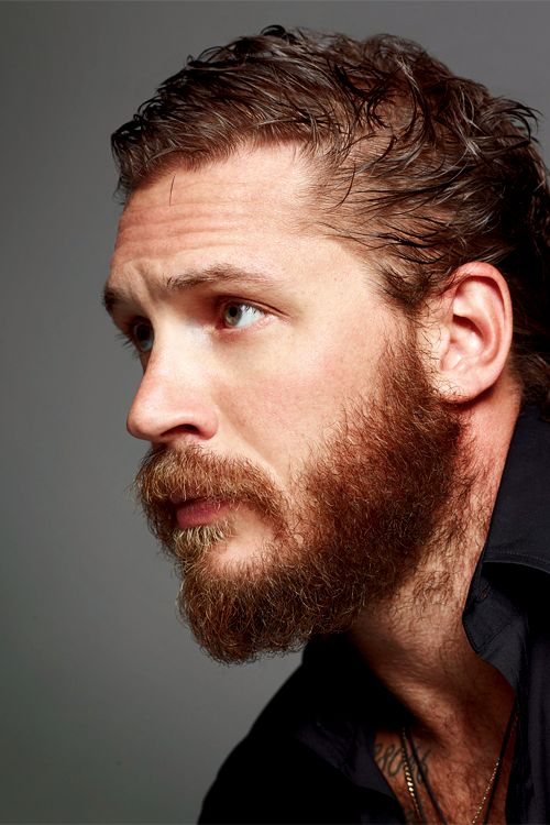 Tom Hardy  Menstyles fashion. Hair. Cute pretty beautiful mens! Love and like it!! Scruffy look. Hairy facial beards