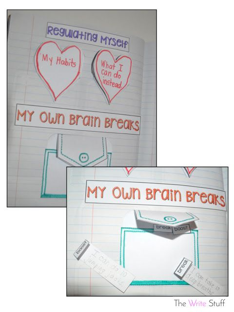 Self-Regulation interactive notebook activity.  #mindfulness #classroommanagement