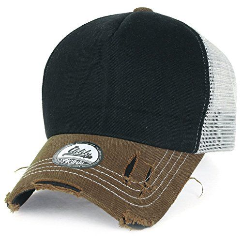 ililily Brown Vintage Distressed Mesh Snapback Blank Trucker Hat Baseball Cap - http://weheartlakers.com/lakers-caps/ililily-brown-vintage-distressed-mesh-snapback-blank-trucker-hat-baseball-cap