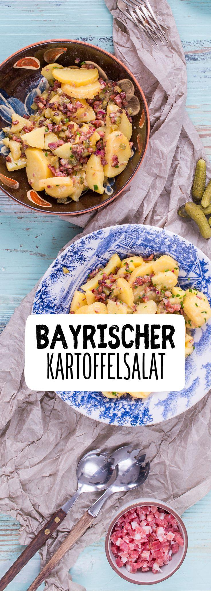 Bayrischer Kartoffelsalat mit Speck und Gurke