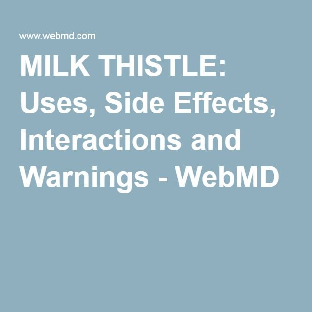 Milk thistle webmd