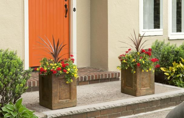 Grab some concrete-countertop mix and build plywood forms to create striking landscape ornaments