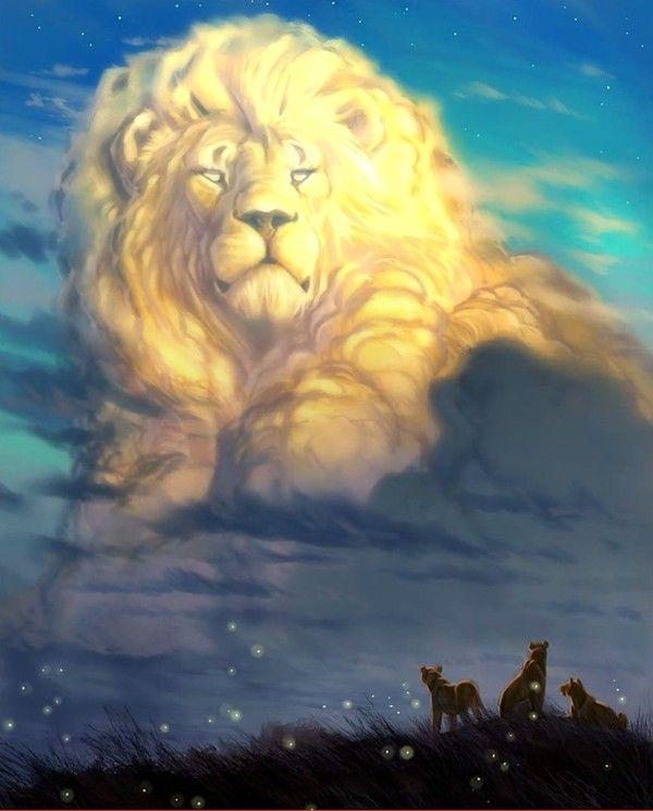 Imagem do leão Cecil feita por Aaron Blaise  (Foto: Reprodução)