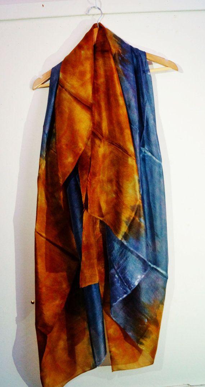 brown black silk scarf by Memzwear on Etsy, £80.00