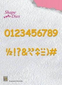 Wykrojnik - Nellie's Choice - liczby SD038