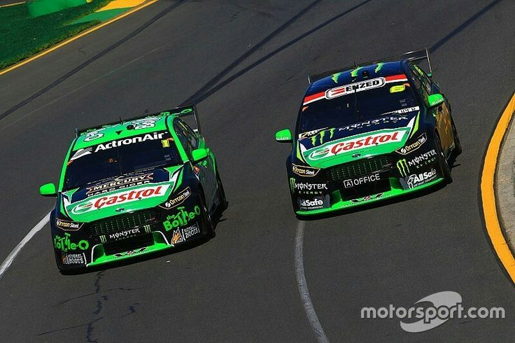 Mark Winterbottom, Prodrive Racing Australia Ford and Cameron Waters, Prodrive Racing Australia Ford at Albert Park