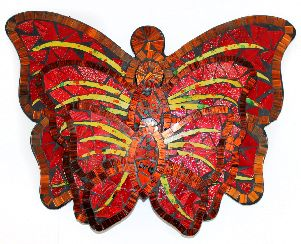 Butterfly Mirrors Multi Colour (Set of 3)