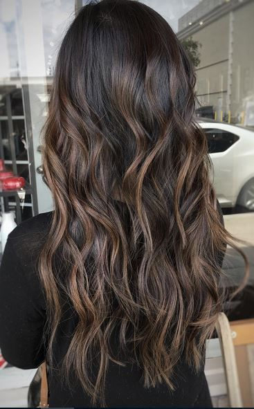 beautiful espresso brunette hair color