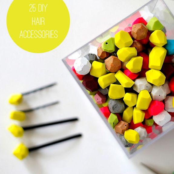 25 DIY Hair Accessories   http://helloglow.co/25-diy-hair-accessories/