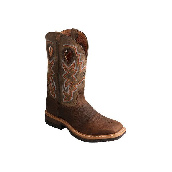 Men's Twisted X Boots MLCA001 Lightweight Cowboy Work Boot ($195) ❤ liked on Polyvore featuring men's fashion, men's shoes, men's boots, men's work boots, casual, work boots, mens western work boots, mens steel toe boots, men's composite toe work boots and mens western boots