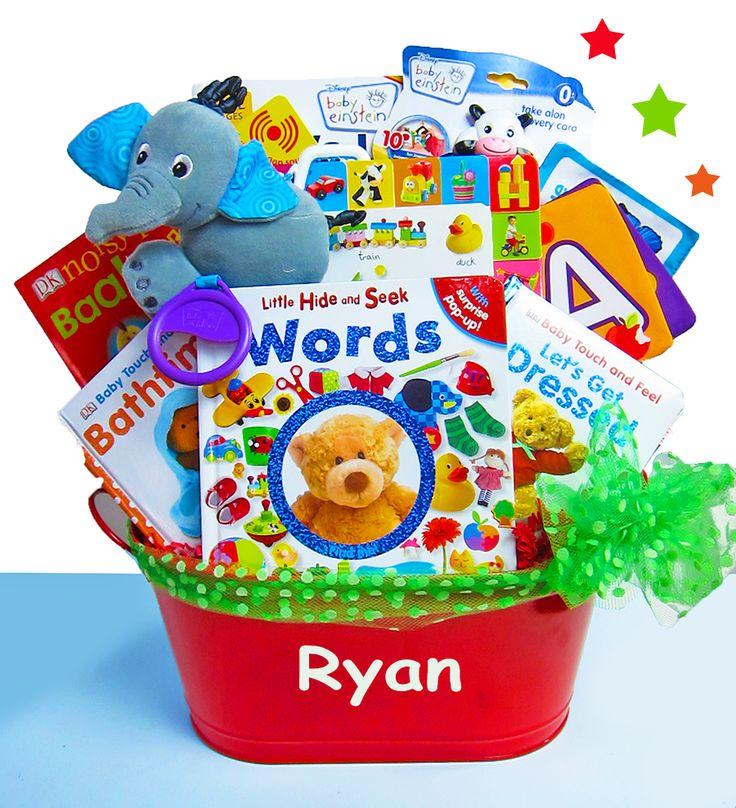 """Baby Einstein """"Touch & Discover"""" Deluxe Gift Basket by Baby Gifts-N-Treasures #Einstein #BabyEinstein #CreativeBabyGIfts #EducationalBabyGIfts #BabyGiftsNTreasures"""