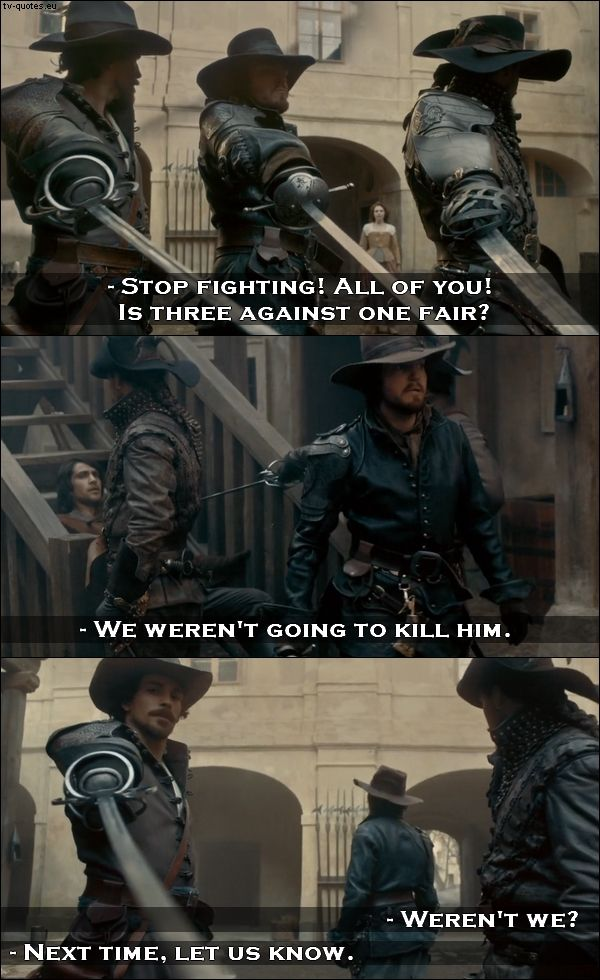 10 best The Musketeers quotes from Friends and Enemies (1x01) | TV Quotes