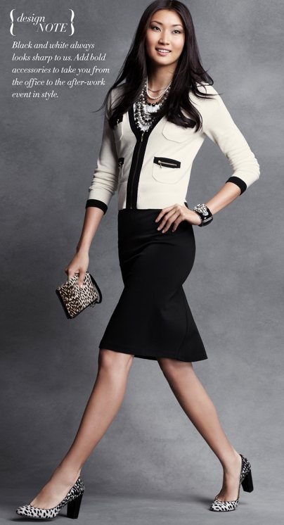 sweater and skirt: Business Style, Fashion Style, Outfits Posts, Black White, Work Wear, The Offices, Work Outfits, Anne Taylors, Interview Outfits