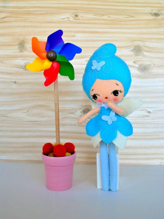 #felt #doll #minimez #etsy #fairy #butterfly #noialand #baby #gift #cute