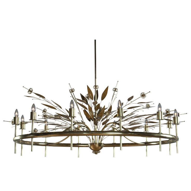 12 Light Chandelier by Paavo Tynell