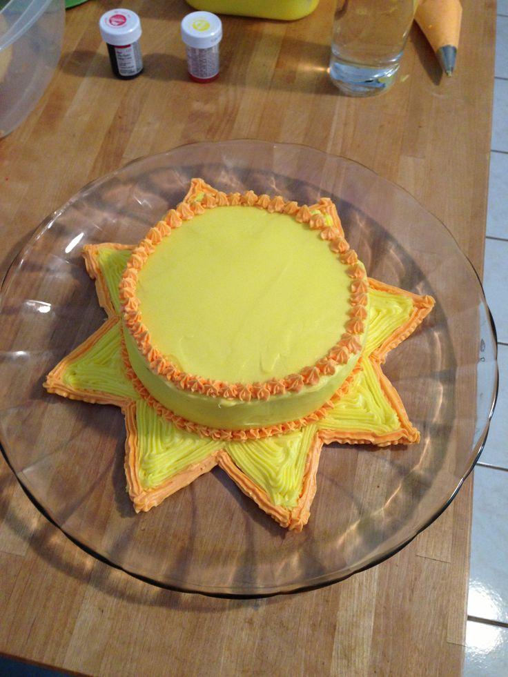 Sun Cake Yum O Sunshine Birthday Parties Sun Cake