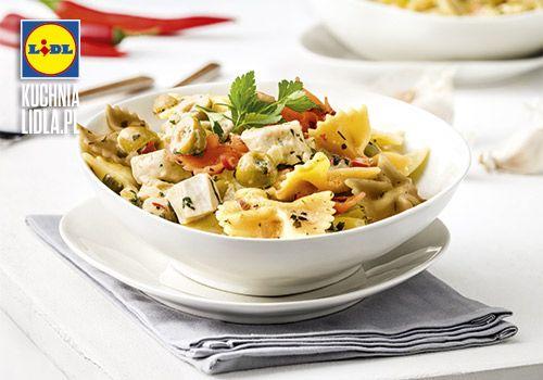 Makaron z kurczakiem i serkiem mascarpone. Kuchnia Lidla - Lidl Polska. #wellman #kuchniawloska #kurczak #makaron
